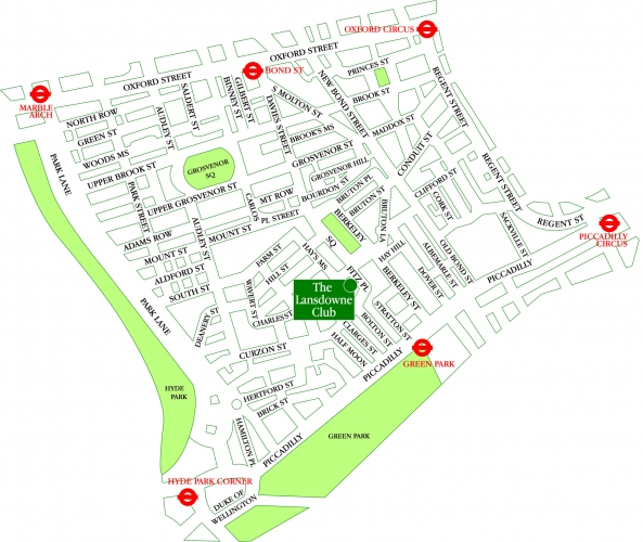 Lansdowne club map